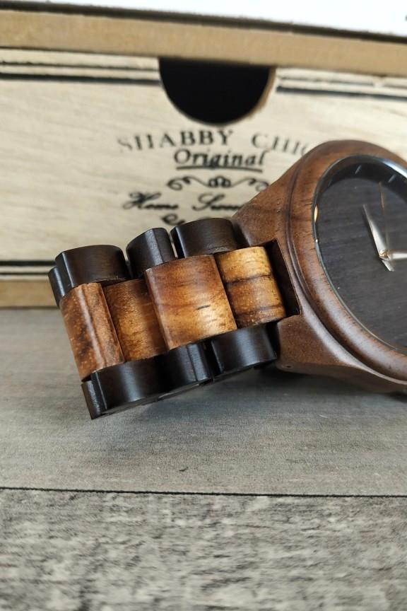 ξύλινο-ρολόι-χειρός-μαύρο-μπρασελέ-wenge