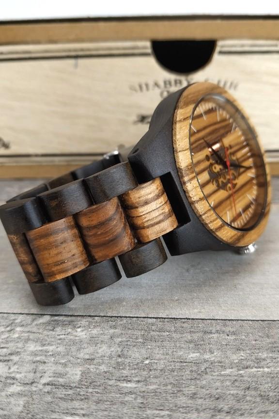 ξύλινο-ρολόι-μπρασελέ-μηχανισμός-διχρωμία
