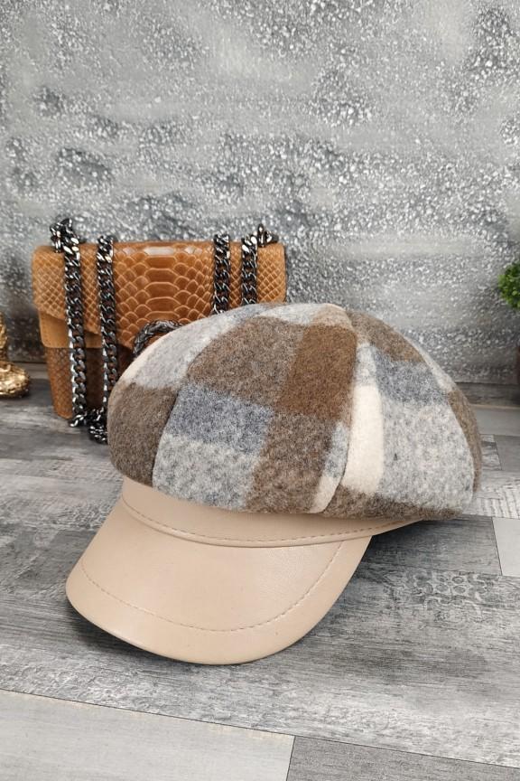 γυναικείο-καπέλο-μάλλινο-μπερές-μπεζ