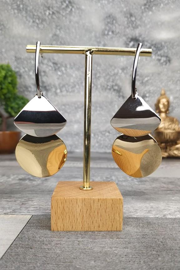 σκουλαρίκια-ασημί-χρυσό