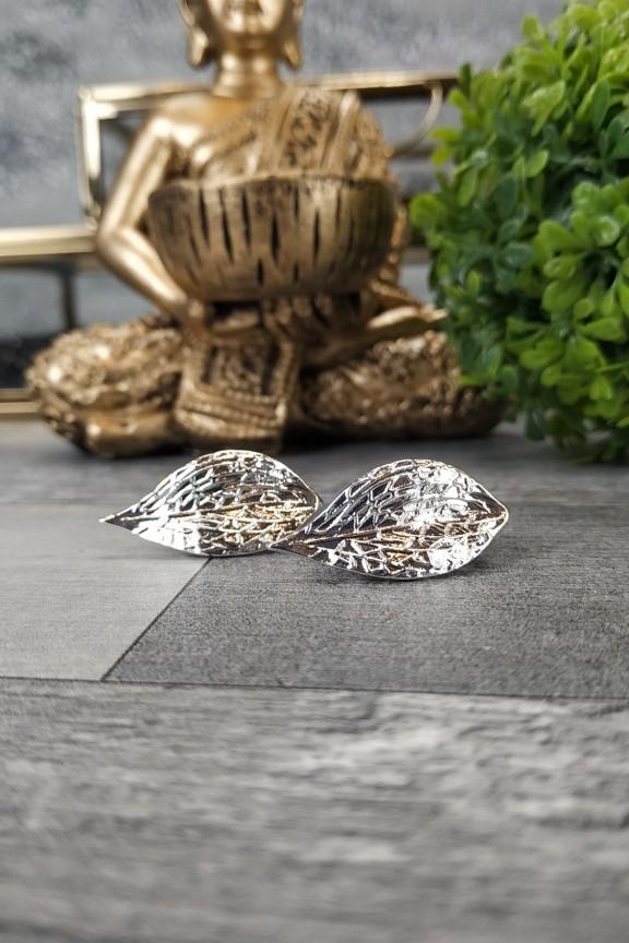 σκουλαρίκια-με-κλιπ-φύλλα-ασημί
