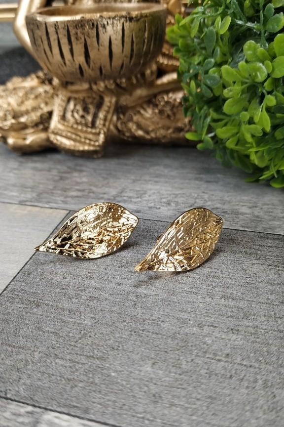 σκουλαρίκια-με-κλιπ-φύλλα-χρυσά