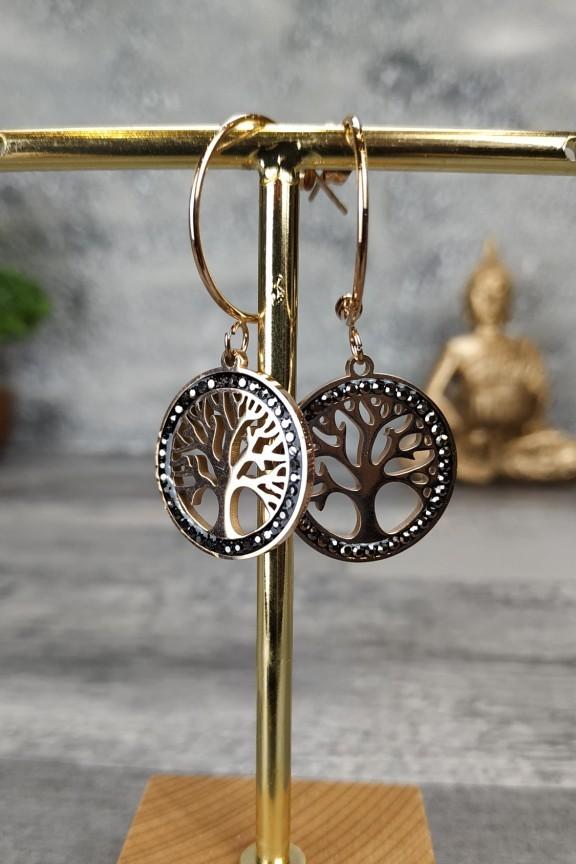σκουλαρίκια-κρίκοι-ατσάλι-δέντρο-της-ζωής