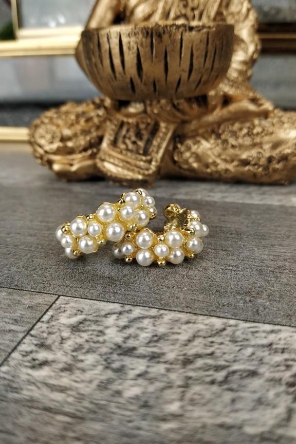 σκουλαρίκια-κρίκοι-πέρλες-χρυσά