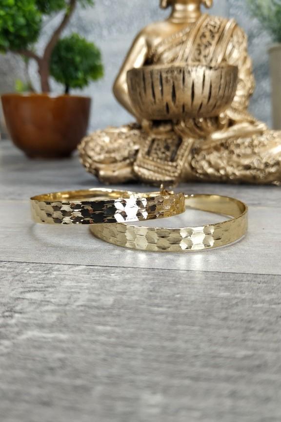 σκουλαρίκια-κρίκοι-σφυρήλατοι-χρυσοί