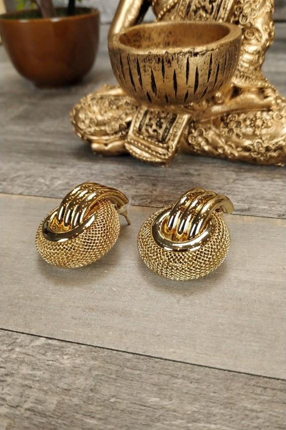 σκουλαρίκια-κρίκοι-χρυσά-ανάγλυφα