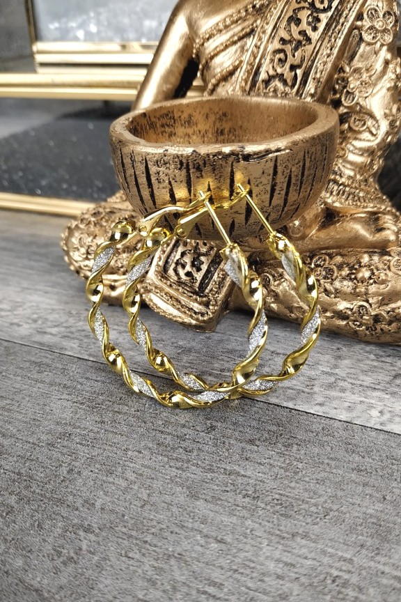 σκουλαρίκια-κρίκοι-χρυσοί-στρας