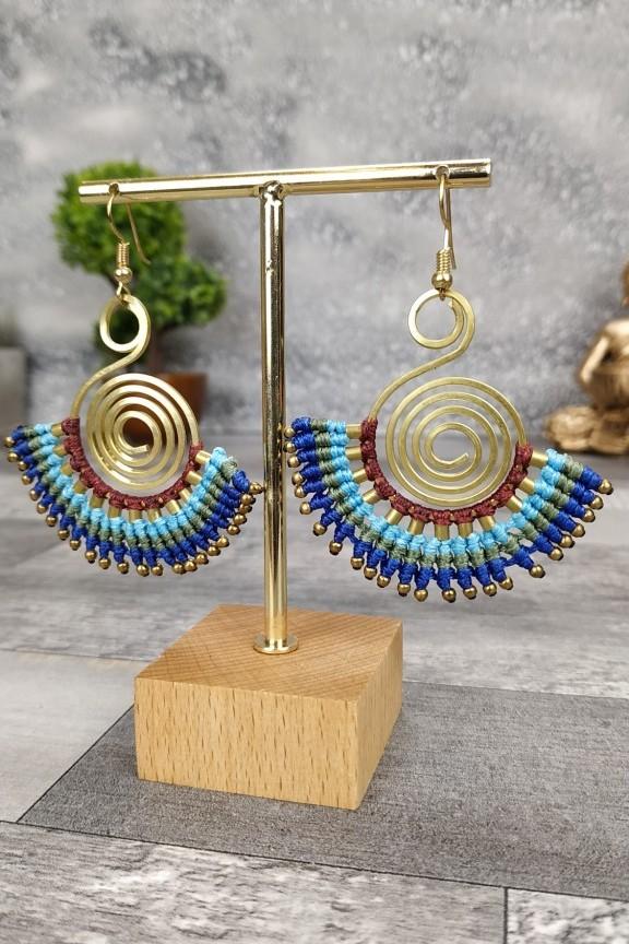 σκουλαρίκια-πλεκτά-ινδικά