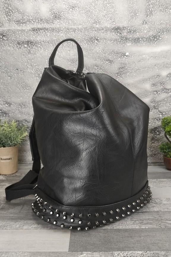 γυναικεία-τσάντα-πλάτης-τρουκς-μαύρη