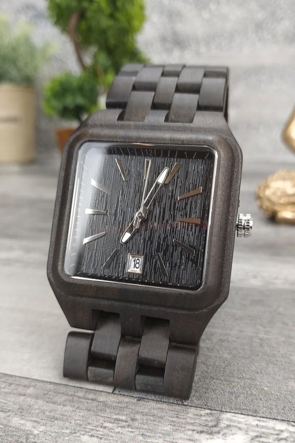 ξύλινο-ρολόι-μπρασελέ-τετράγωνο-μαύρο