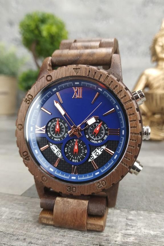 ξύλινο-ρολόι-χρονογράφος-μπρασελέ-καρυδιά