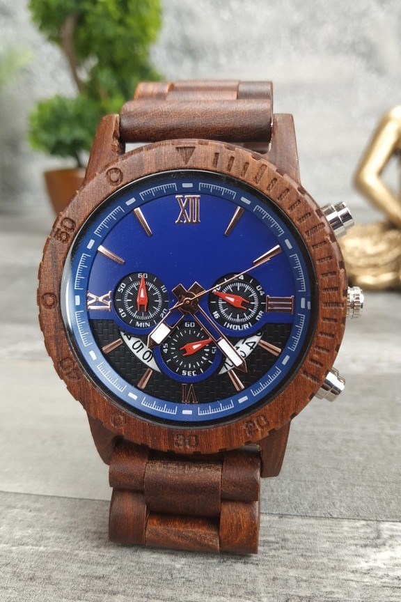 ξύλινο-ρολόι-χρονογράφος-μπρασελέ-κερασιά