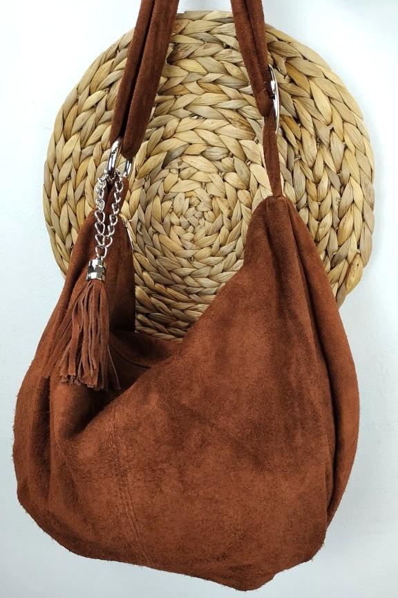 δερμάτινη-τσάντα-καστόρι-hobo-καφέ