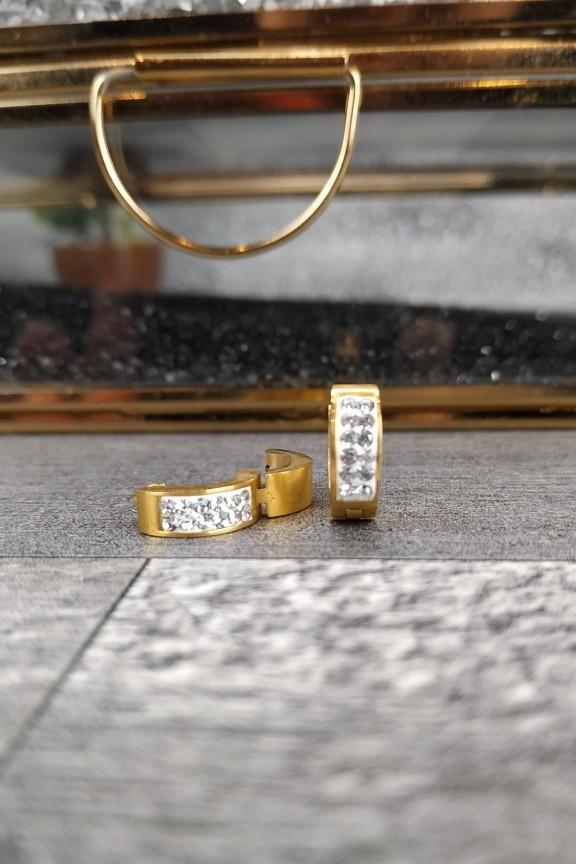σκουλαρίκια-κρικάκια-ατσάλι-στρας-χρυσό