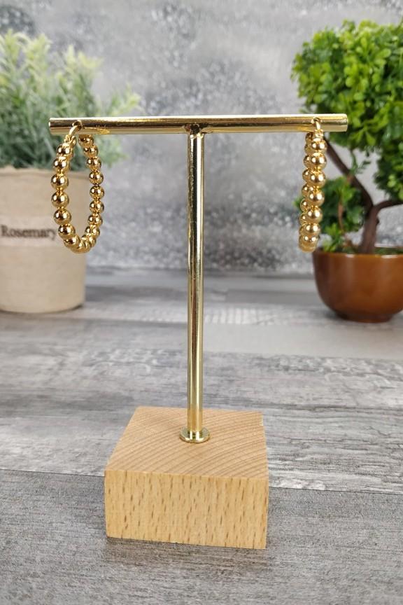σκουλαρίκια-κρίκοι-ατσάλι-μπίλιες-χρυσό