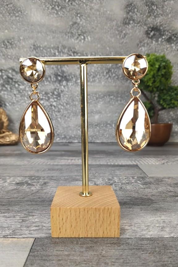 σκουλαρίκια-κρύσταλλοι-χρυσό