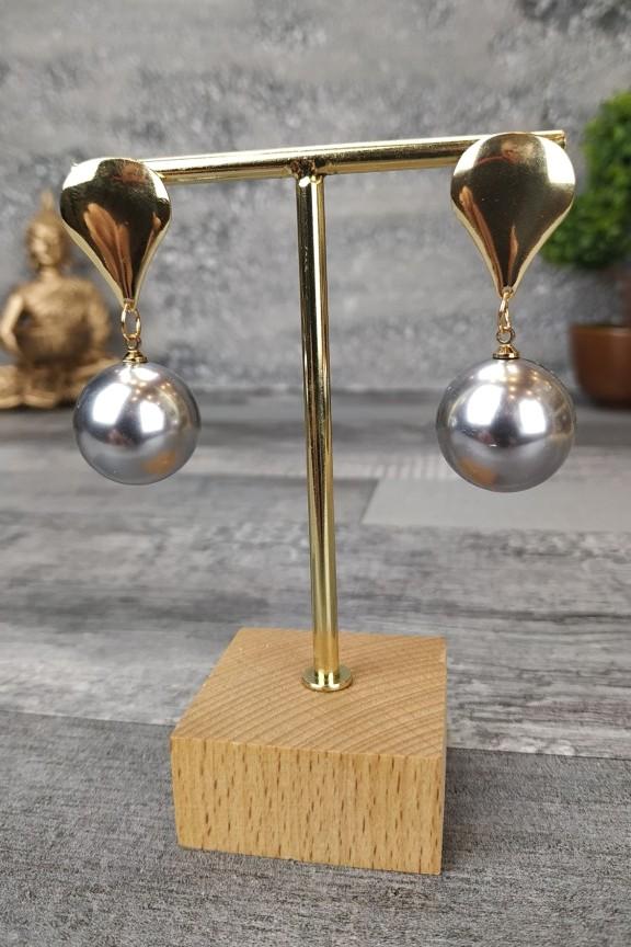σκουλαρίκια-πέρλες-γκρι-χρυσό