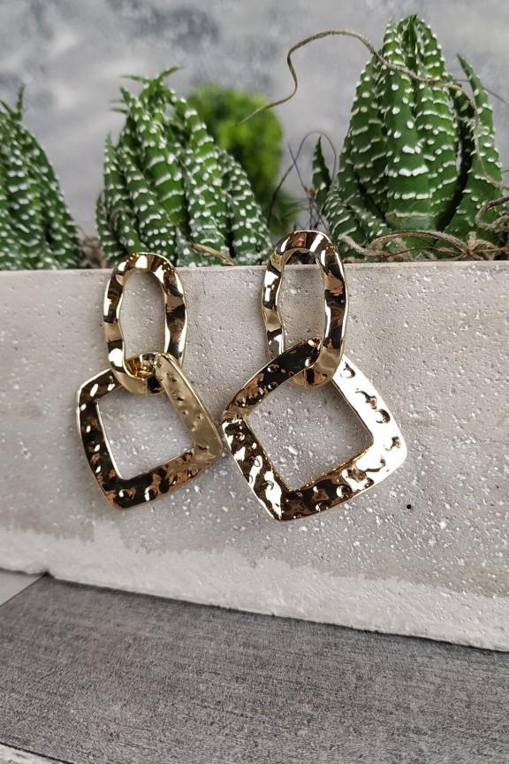 σκουλαρίκια-σφυρήλατα-χρυσά