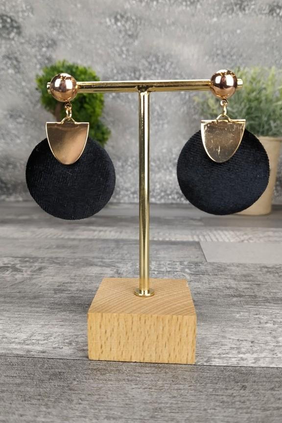 σκουλαρίκια-βελούδο-μαύρο-στρογγυλά