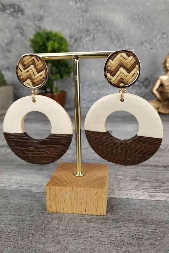 ξύλινα-σκουλαρίκια-στρογγυλά