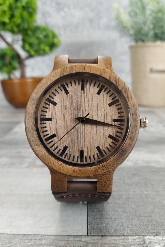 ξύλινο-ρολόι-χειρός-καφέ-λουράκι
