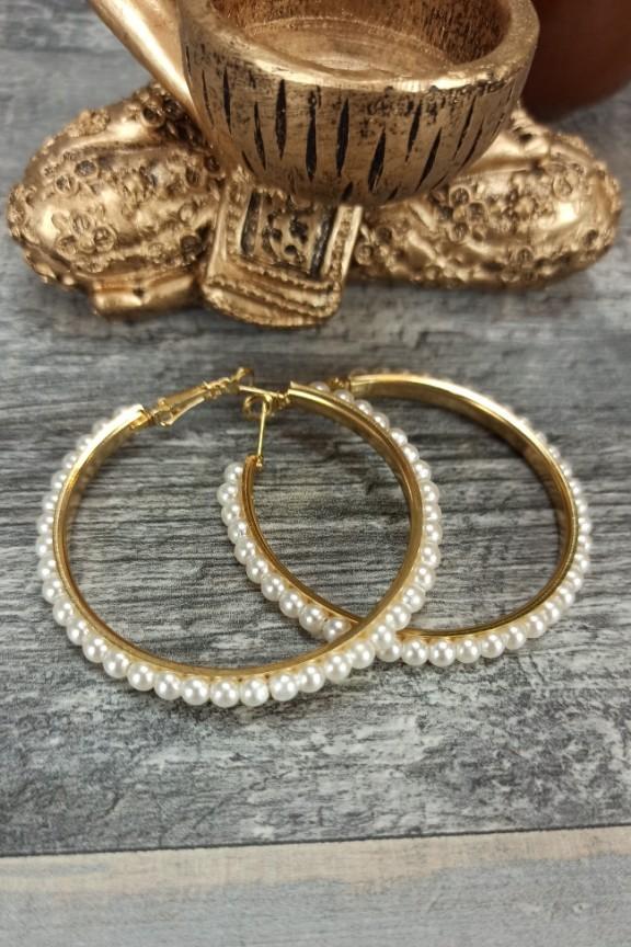 σκουλαρίκια-κρίκοι-πέρλες-χρυσοί