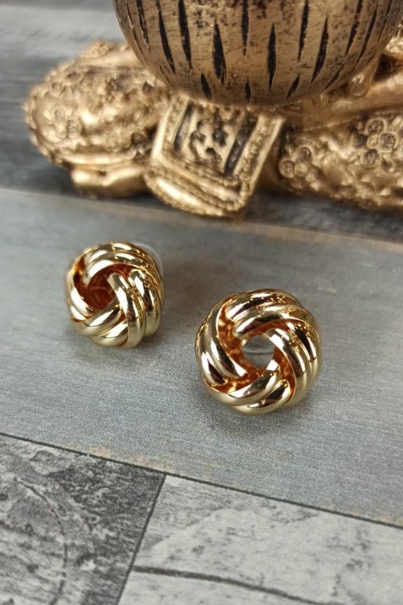 σκουλαρίκια-κρίκοι-χρυσό-πλεκτοί