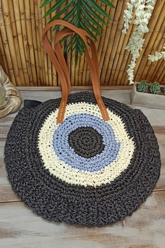 ψάθινη-τσάντα-στρογγυλή-μάτι-μαύρη