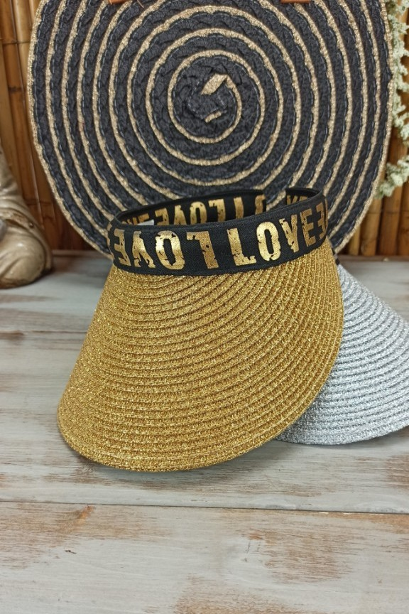 ψάθινο-καπέλο-visor-χρυσό