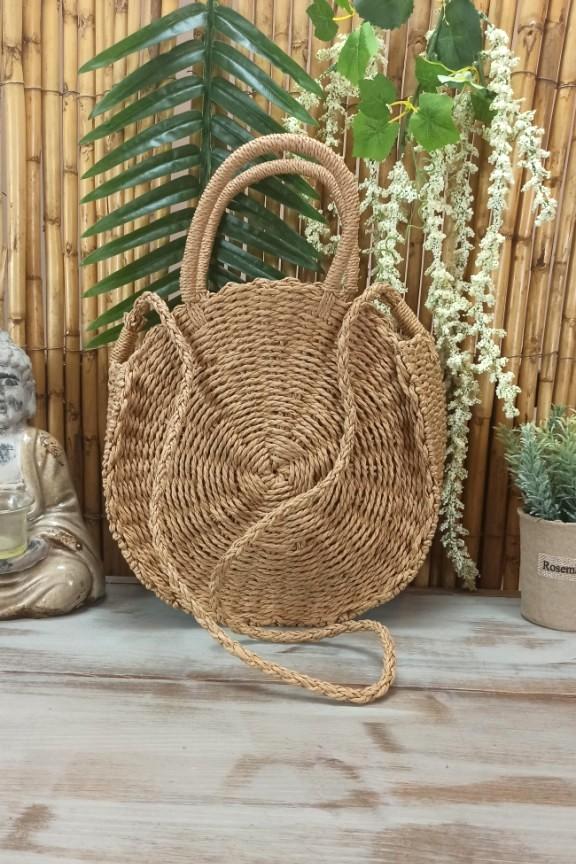 τσάντα-ψάθινη-στρογγυλή-μπεζ