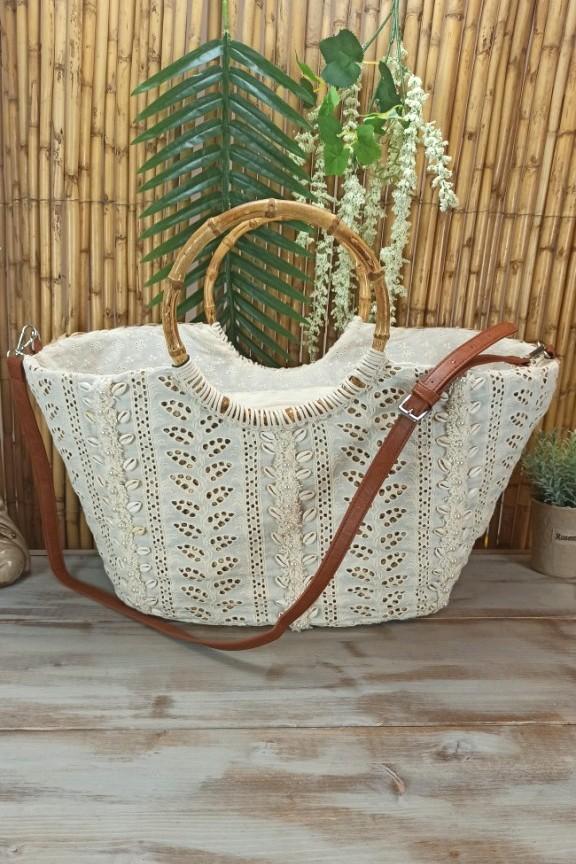 ψάθινη-τσάντα-παραλίας-μπαμπού