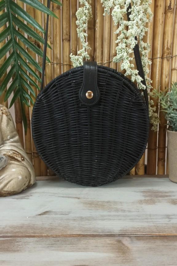 τσάντα-μπαμπού-στρογγυλή-μαύρη