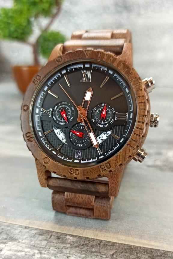 ξύλινο-ρολόι-χρονογράφος-καρυδιά