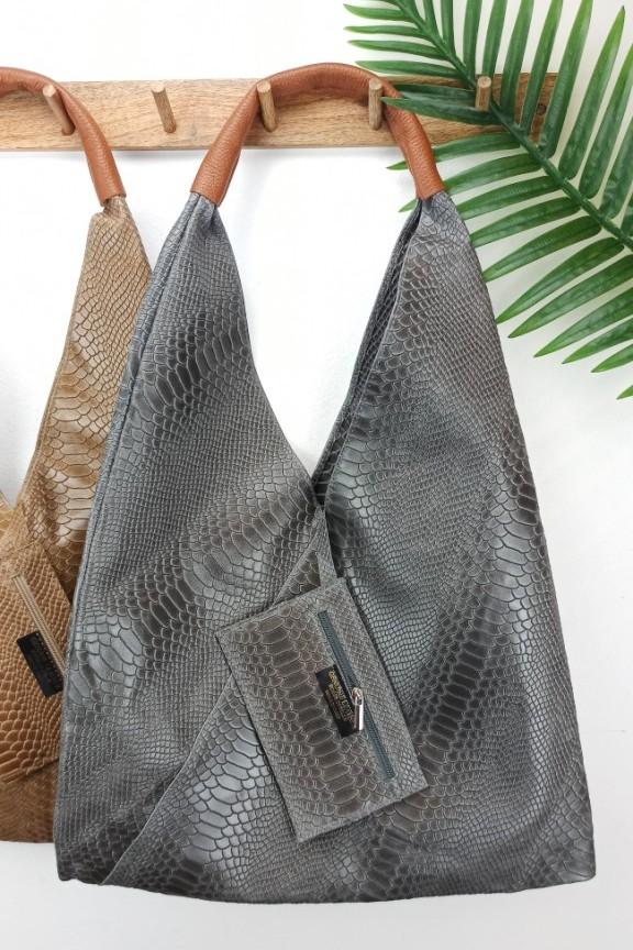 δερμάτινη-τσάντα-φίδι-hobo-γκρι