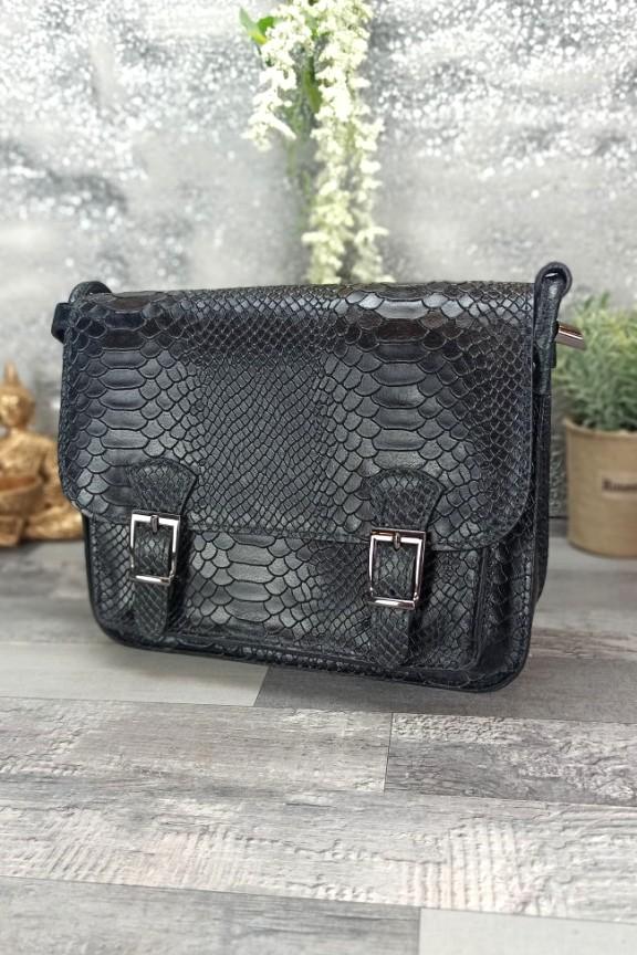 δερμάτινη-τσάντα-φίδι-μαύρη