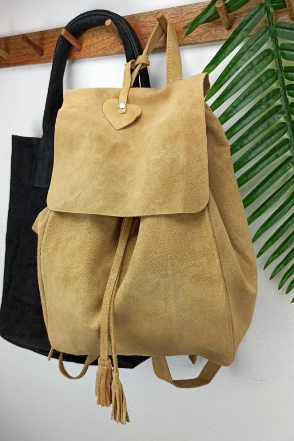 δερμάτινο-backpack-καστόρι-μπεζ