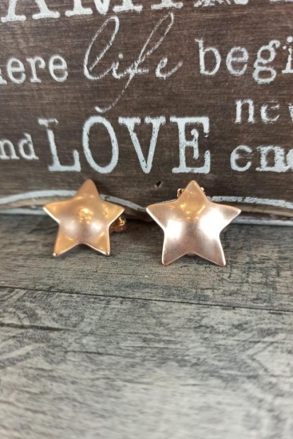 σκουλαρίκια-κλιπ-αστέρι-ροζ-χρυσό