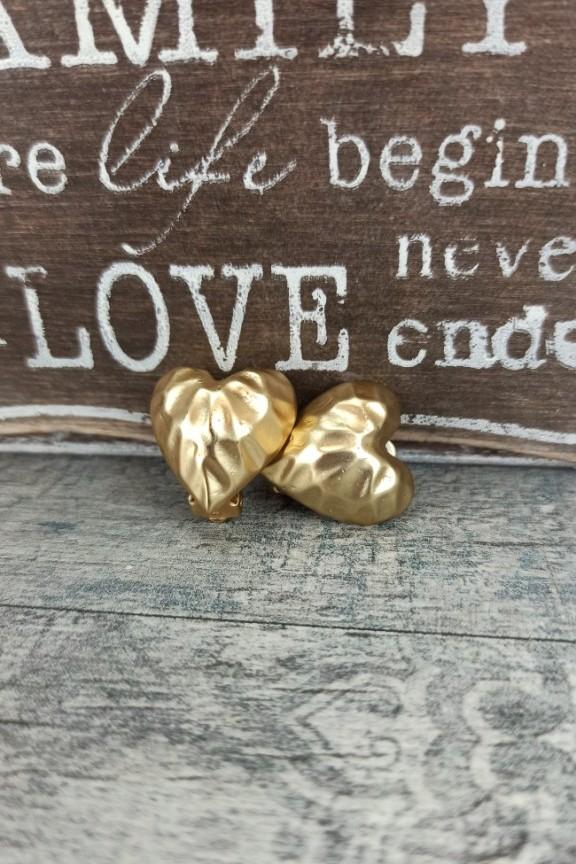 σκουλαρίκια-με-κλιπ-καρδιά-χρυσά