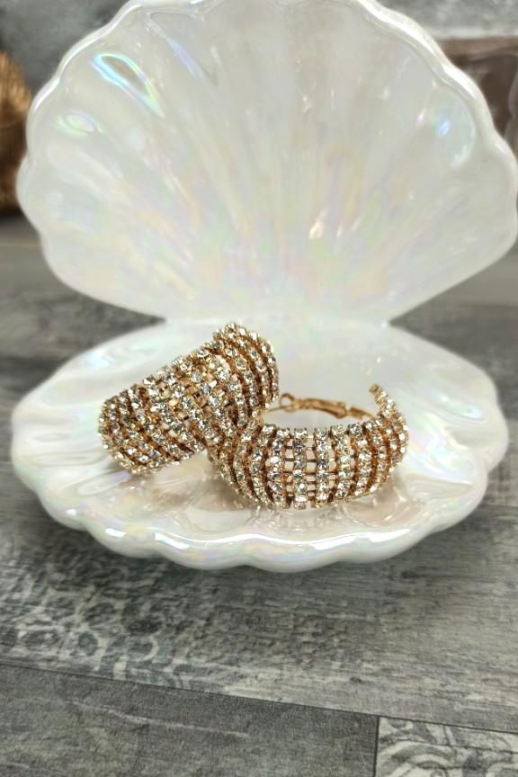 σκουλαρίκια-κρίκοι-στρας-χρυσό
