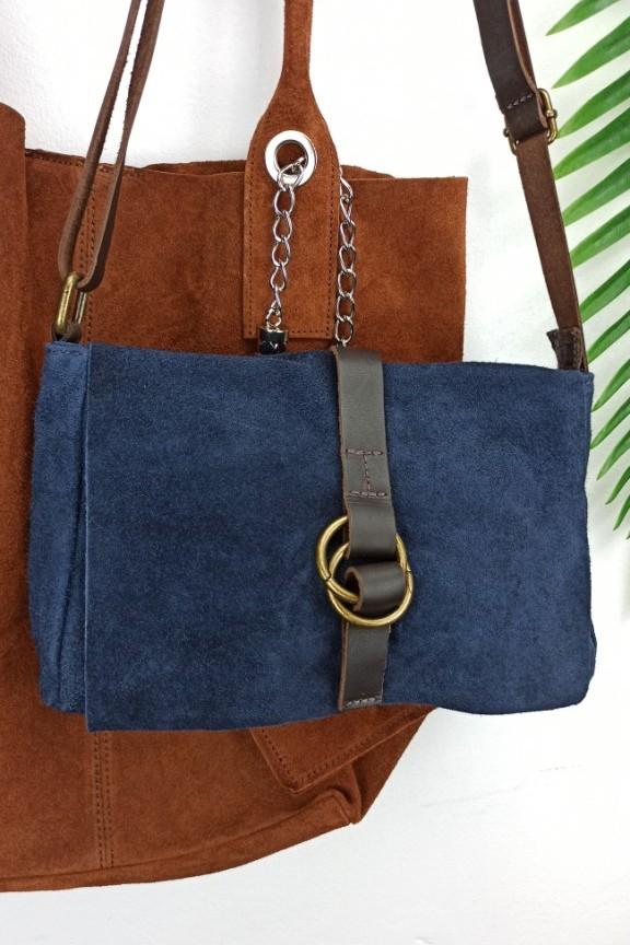τσάντα-δέρμα-καστόρι-μπλε