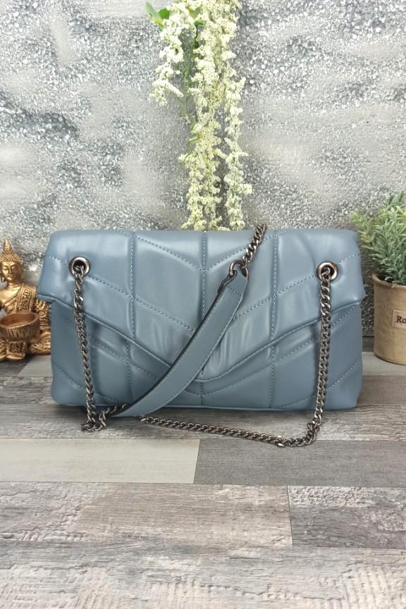 τσάντα-μαλακή-καπιτονέ-γαλάζια