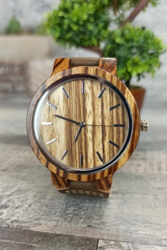 ξύλινο-ρολόι-φυσικό-καφέ