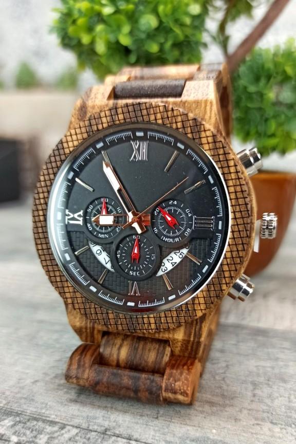 ξύλινο-ρολόι-χειρός-αφρικανικό-ξύλο-μπρασελέ