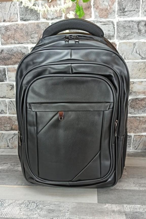 backpack-δερματίνης-laptop-μαύρο