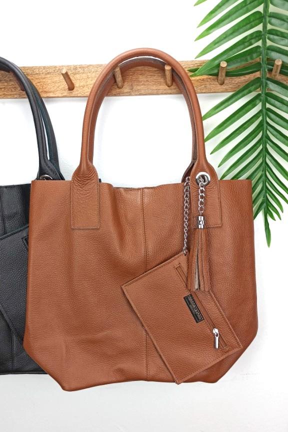 δερμάτινη-τσάντα-hobo-καφέ