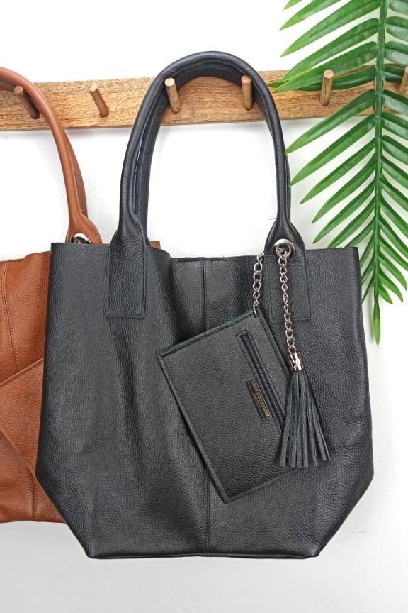 δερμάτινη-τσάντα-hobo-μαύρη