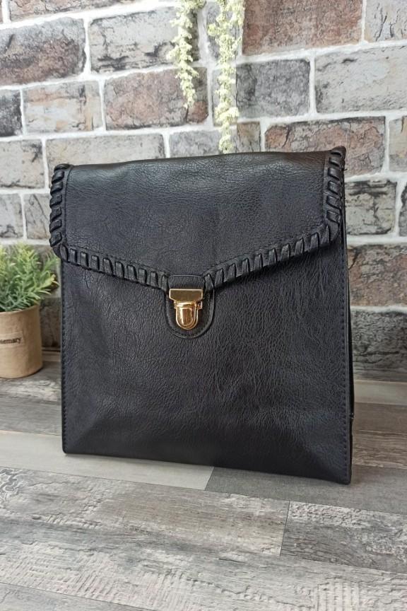 τσάντα-πλάτης-δερματίνη-μαύρη