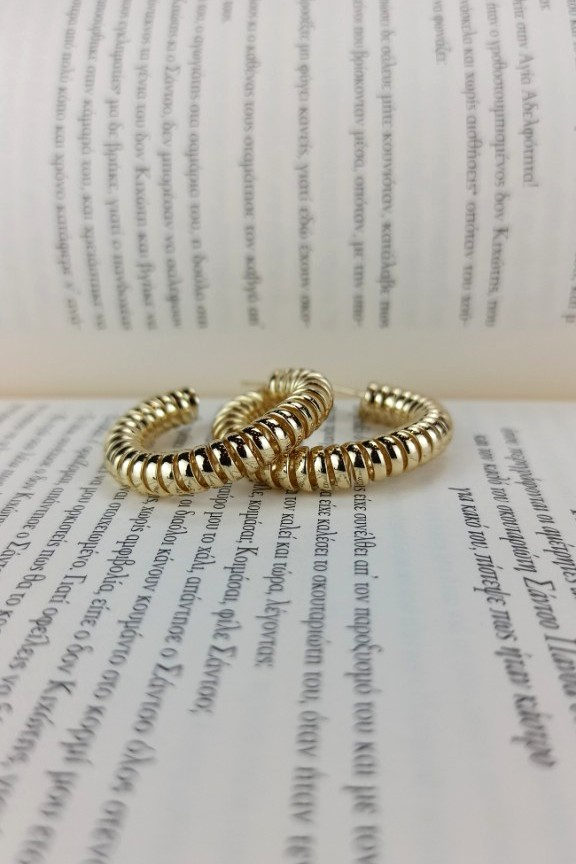 σκουλαρίκια-κρίκοι-σπιράλ-χρυσοί