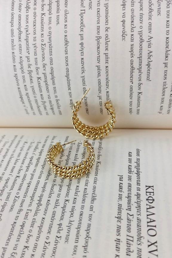 κρίκοι-τριπλοί-ανάγλυφοι-χρυσοί