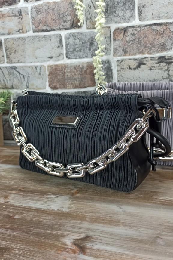 τσάντα-πλισέ-μαύρη
